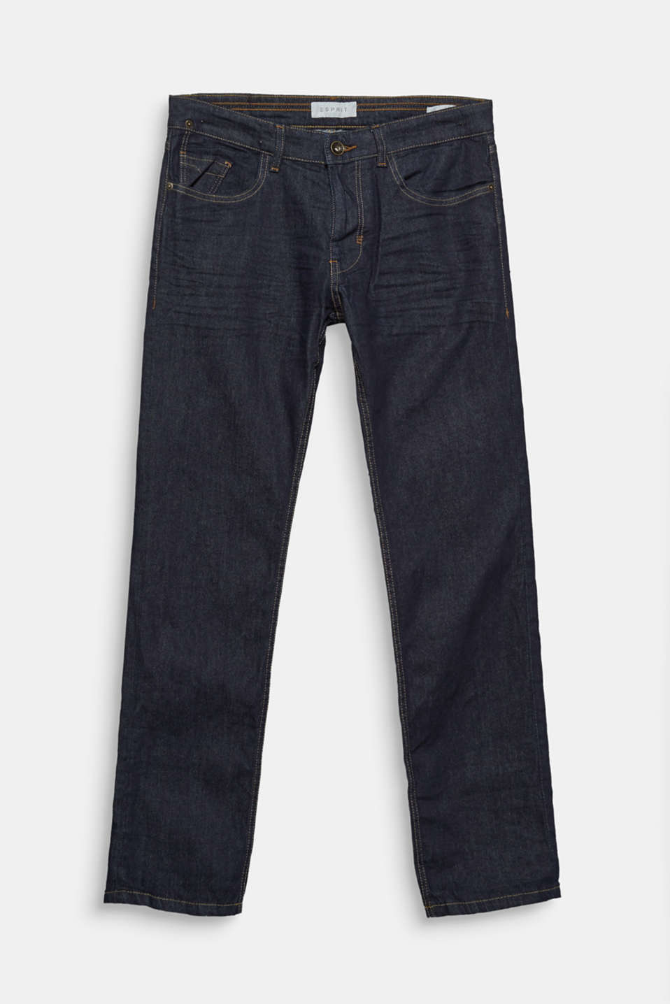 We love denim! These slim-fitting, five-pocket jeans feature a casual vintage garment wash.