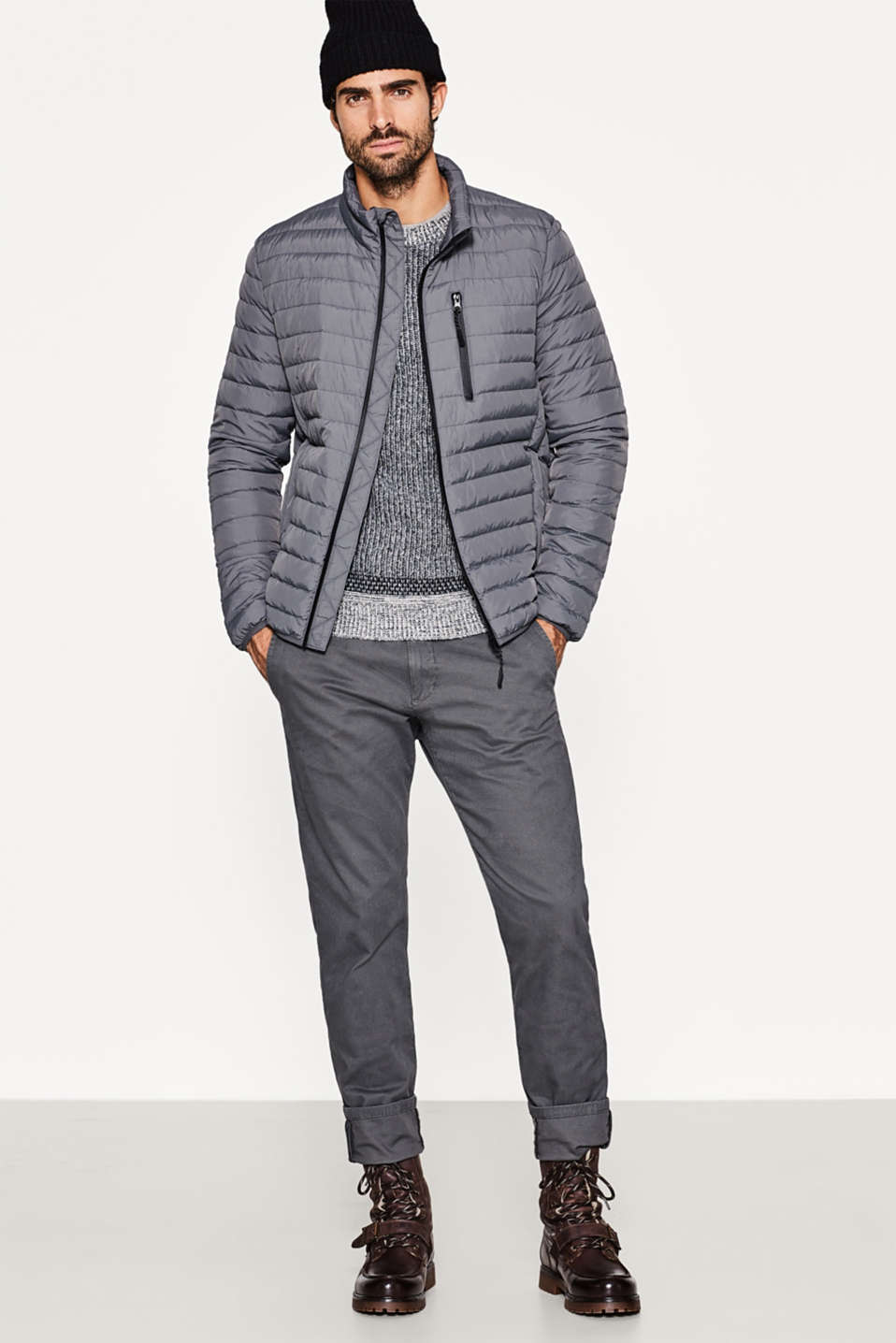 Quilted jacket with down/feather filling
