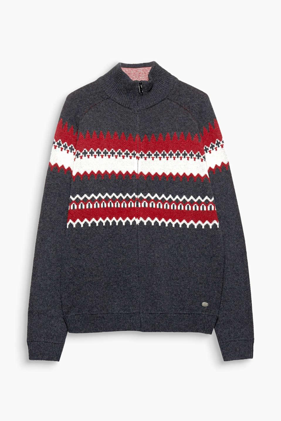 Esprit cardigan en jacquard teneur en laine acheter - Acheter laine xxl ...