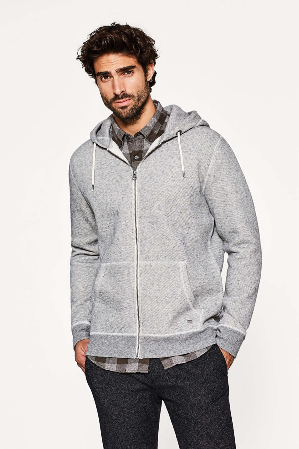Esprit - Hoodie with a soft, wintry inner surface
