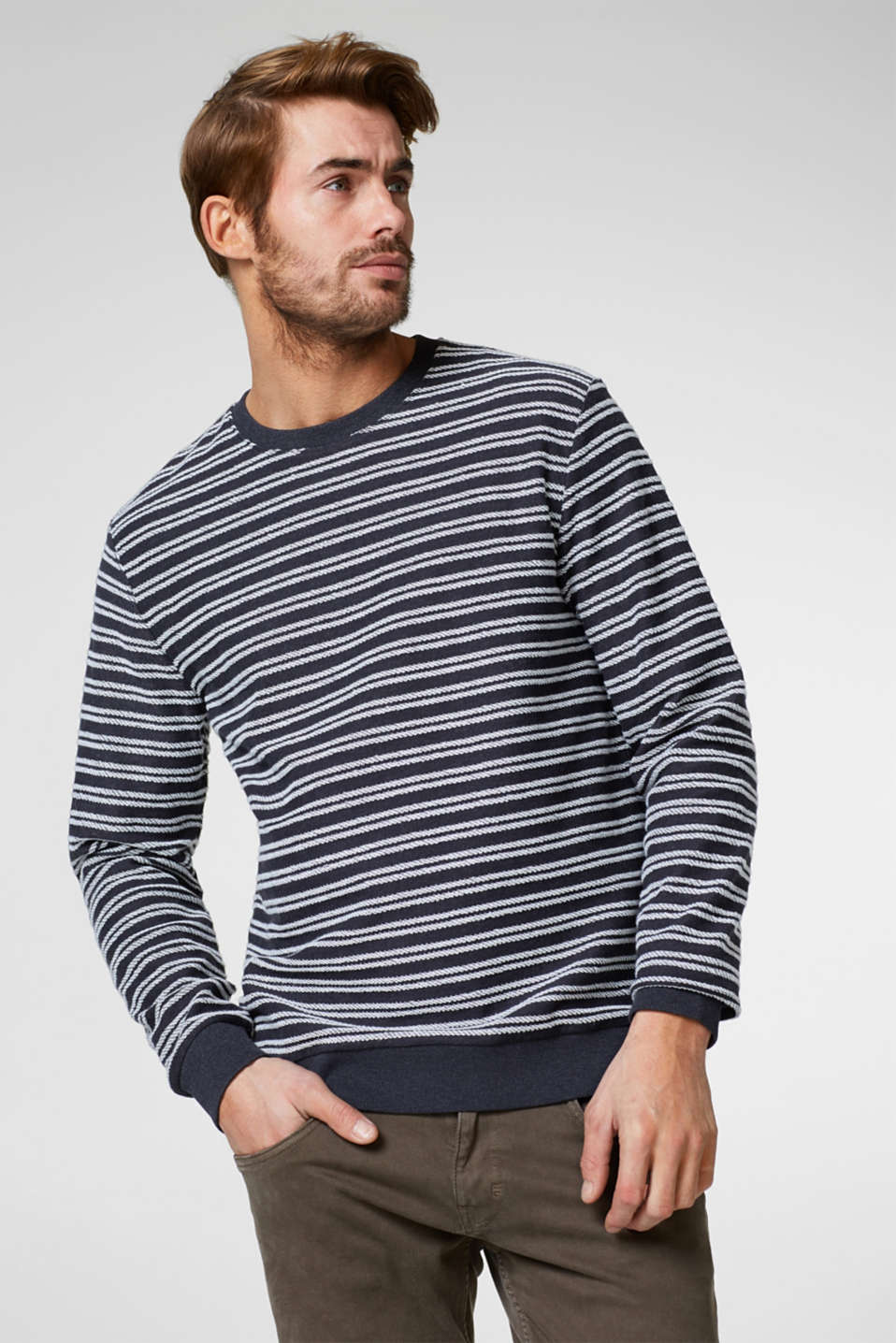 Esprit - Sweatshirt with embroidered stripes