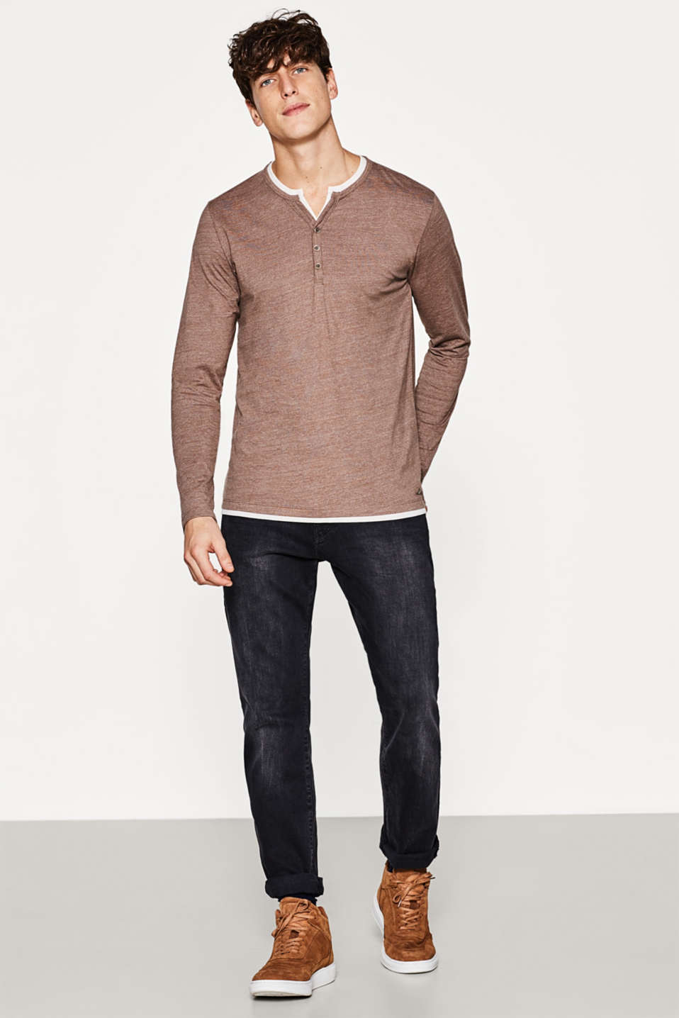 Esprit - Long sleeve jersey top with a layered effect