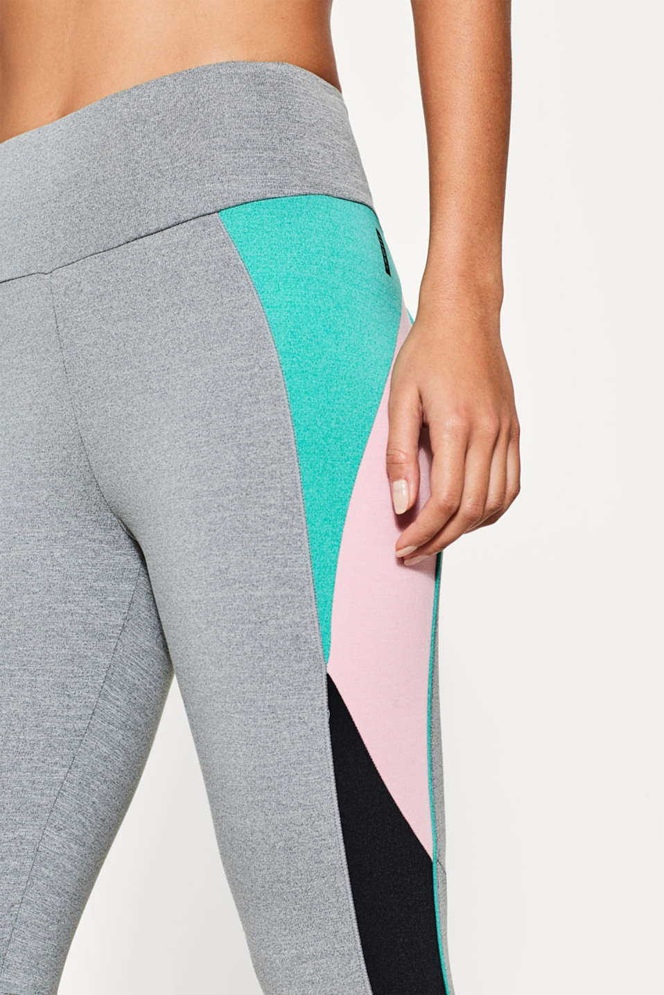 Legginsy z efektem colour-blocking, E-DRY
