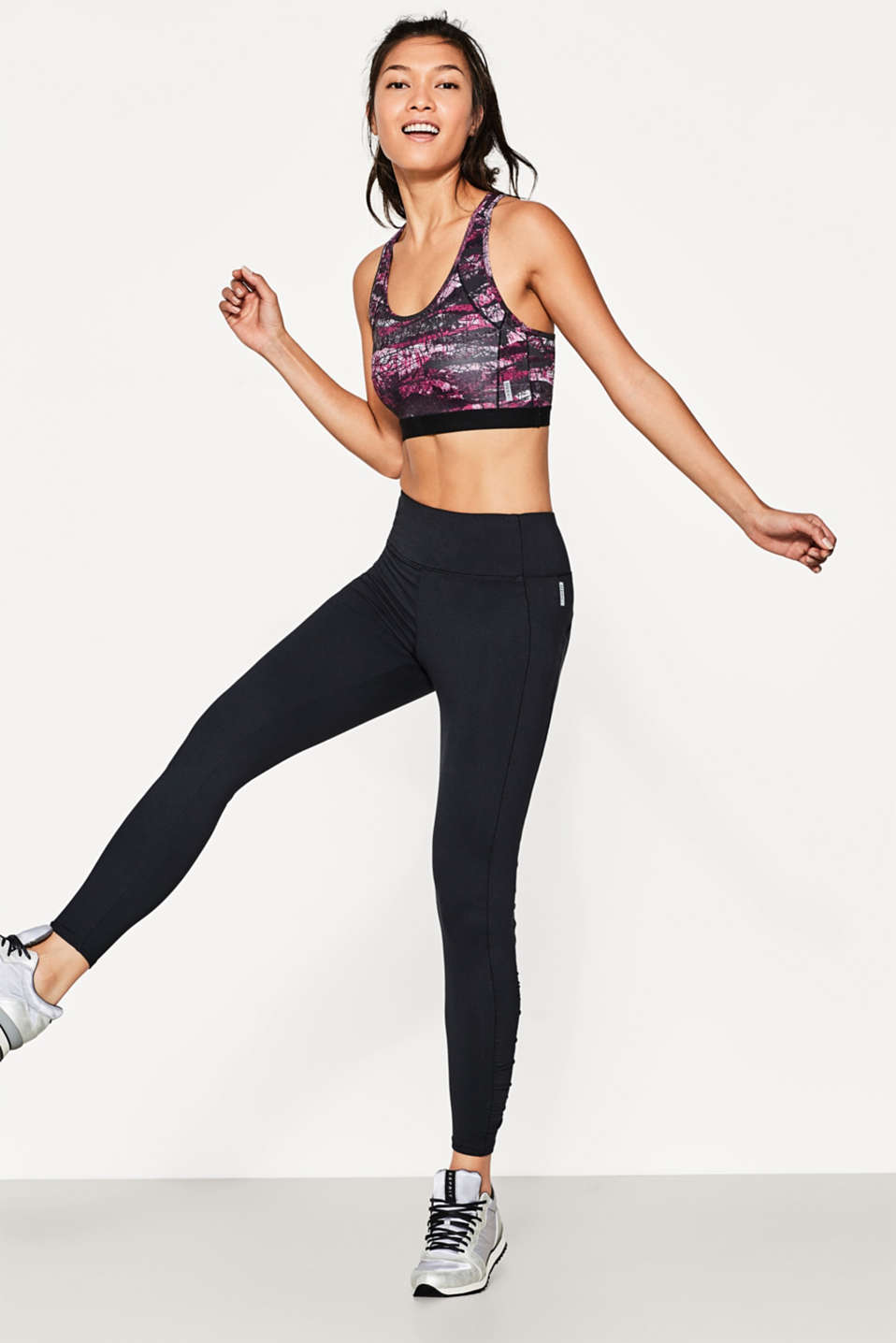 Esprit - Leggings Active con vita larga, E-DRY