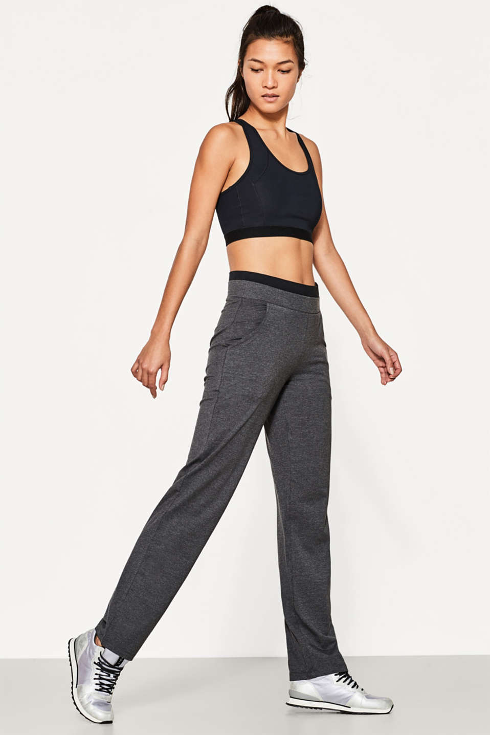 Esprit - Pants aus Baumwoll-Mix mit Stretch