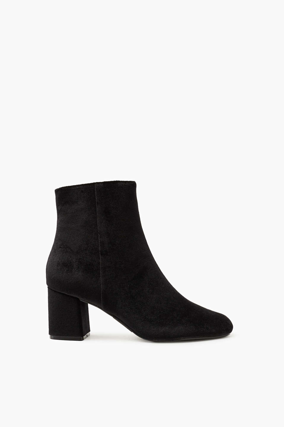 Esprit - Soft cotton velvet boots