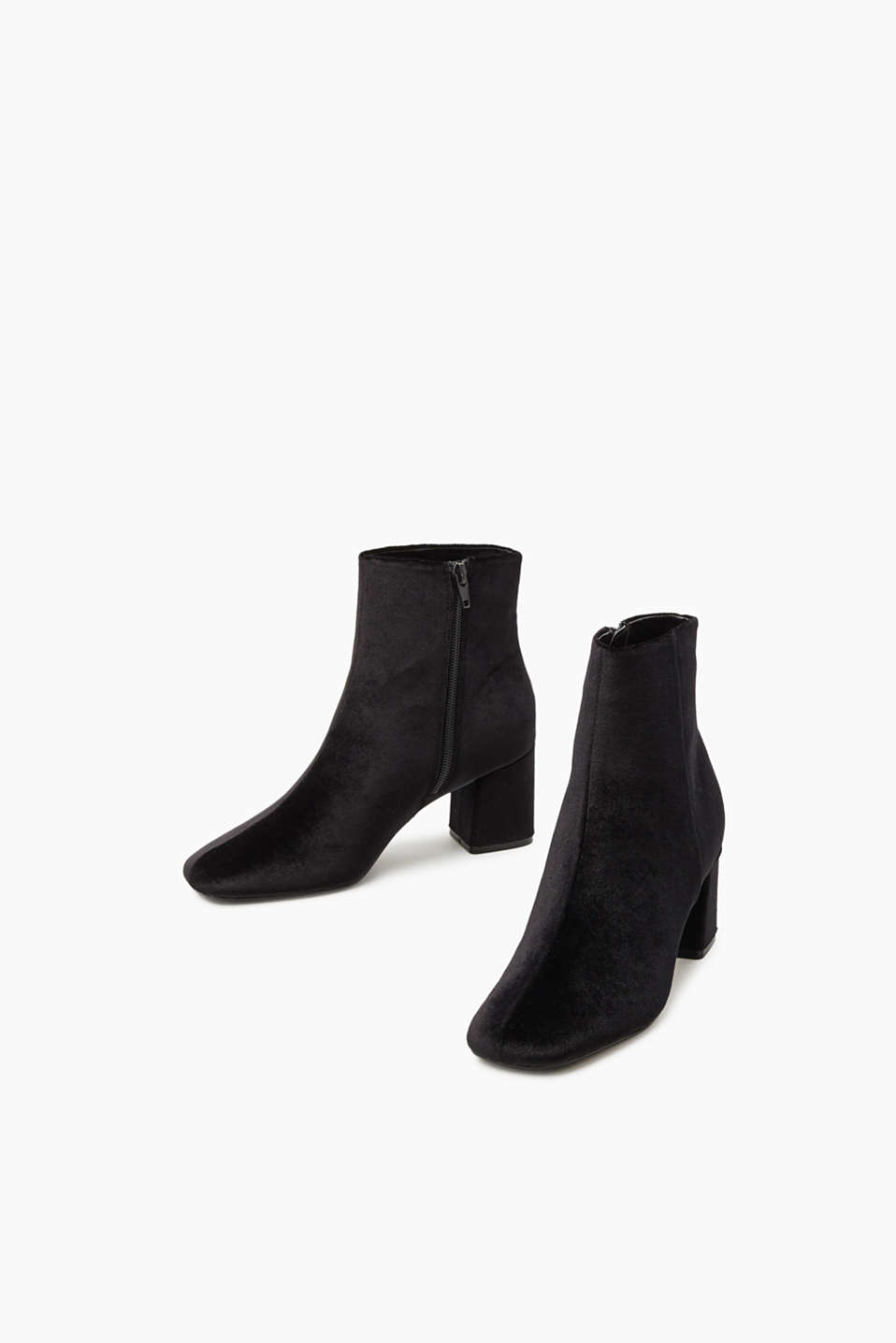 Bottines en doux velours de coton