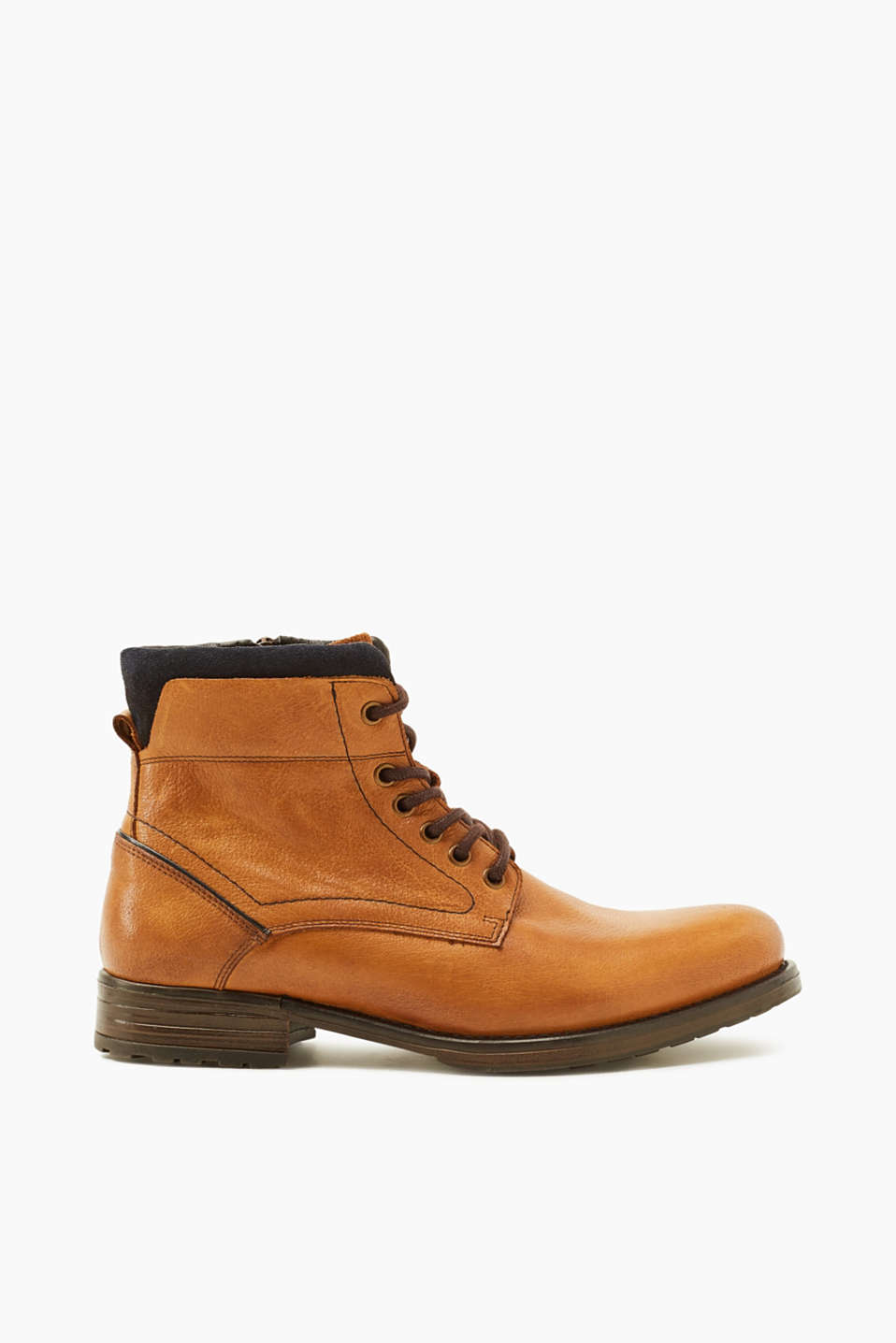 Esprit - Robust leather lace-up boots