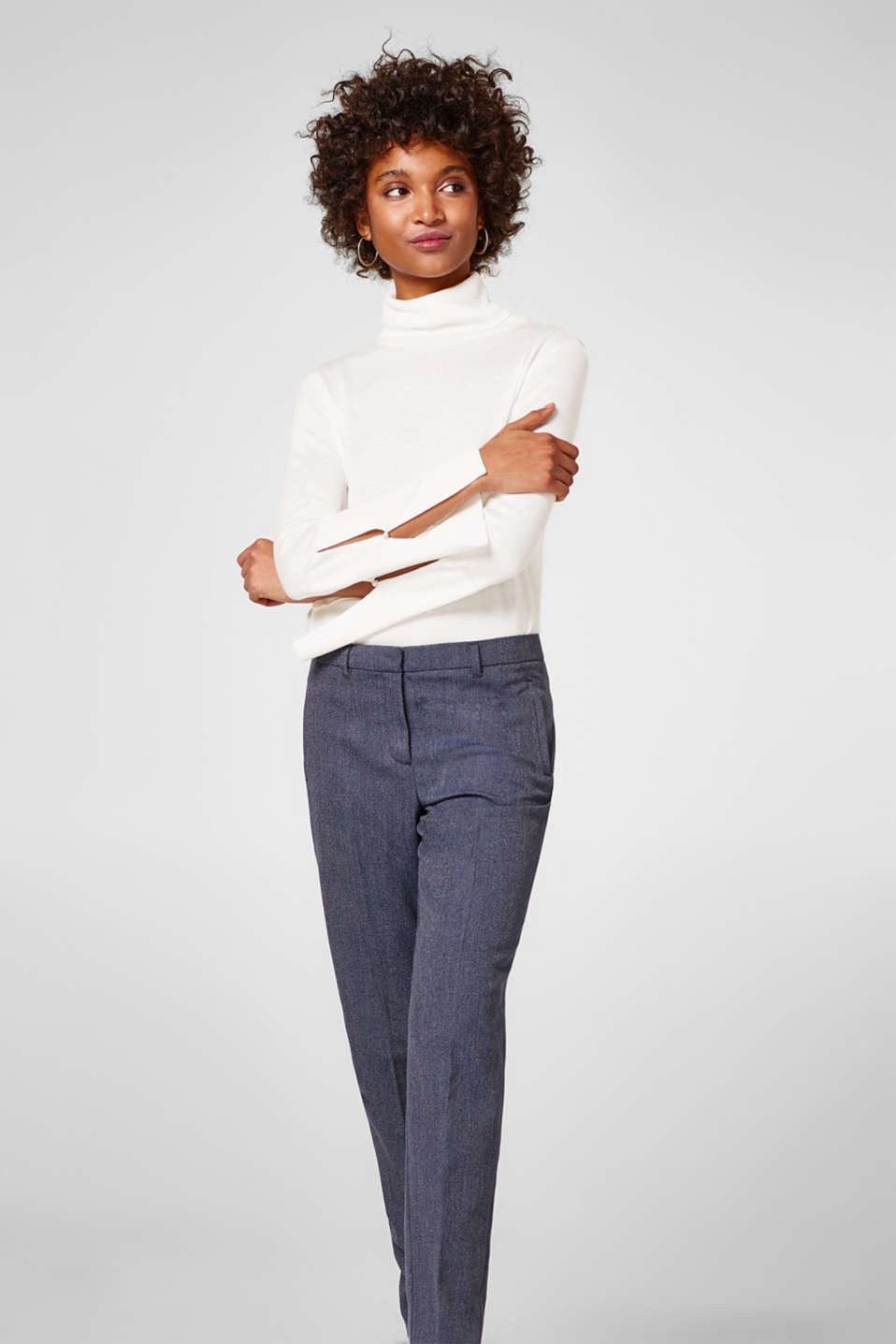 Esprit - Smart two-tone texture trousers