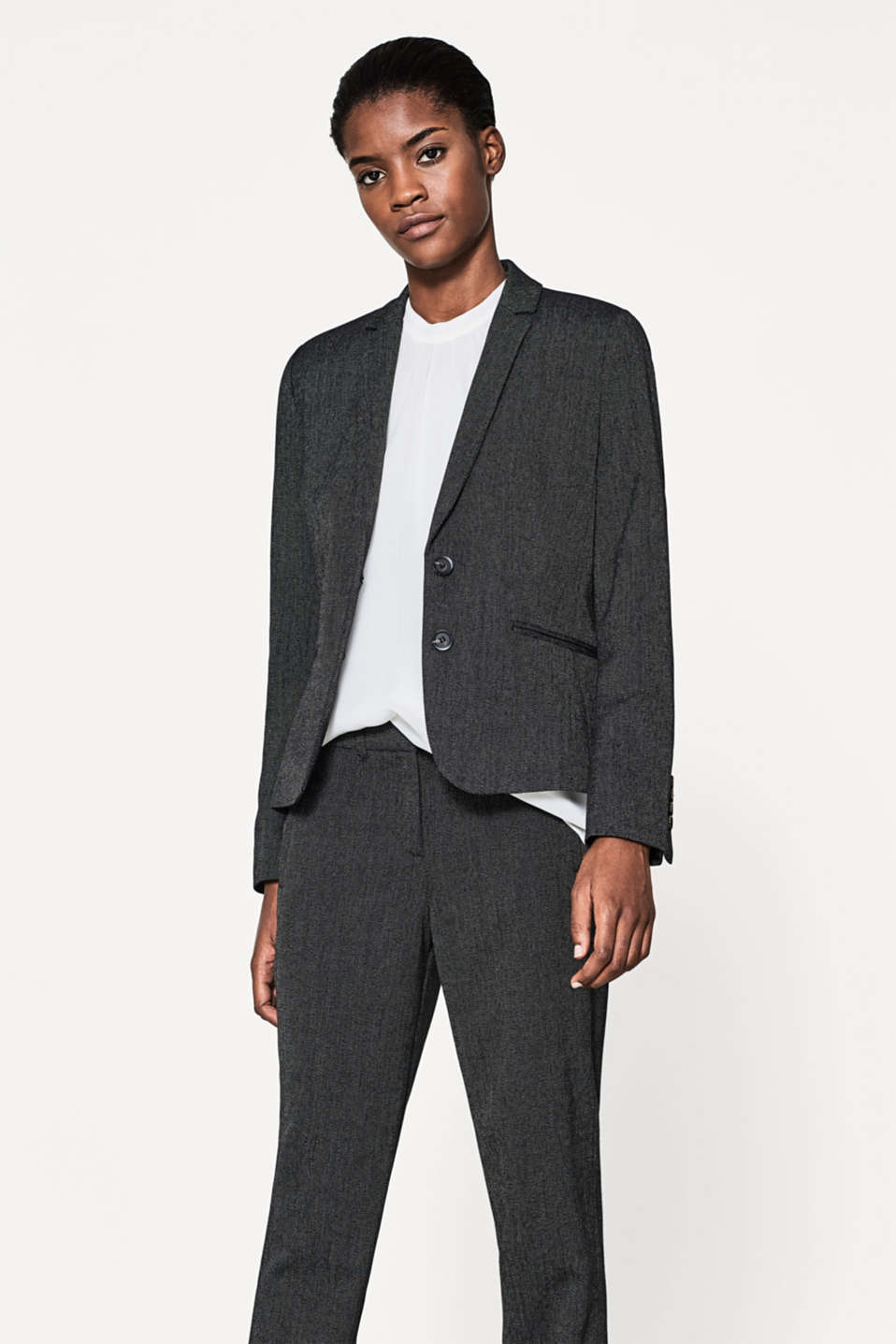 Esprit - Fitted two-tone stretch blazer