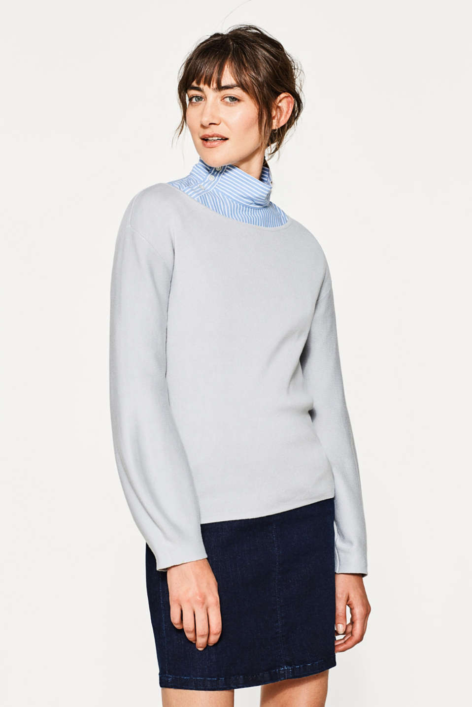 Esprit - Soft jumper with balloon sleeves