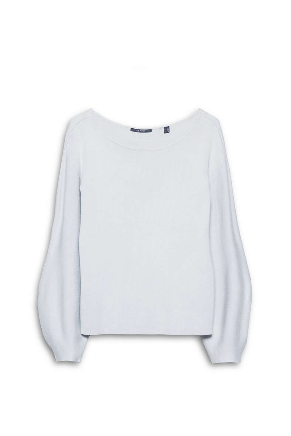 Great for creating outfits thanks to its balloon sleeves and super-modern look: soft knit jumper!