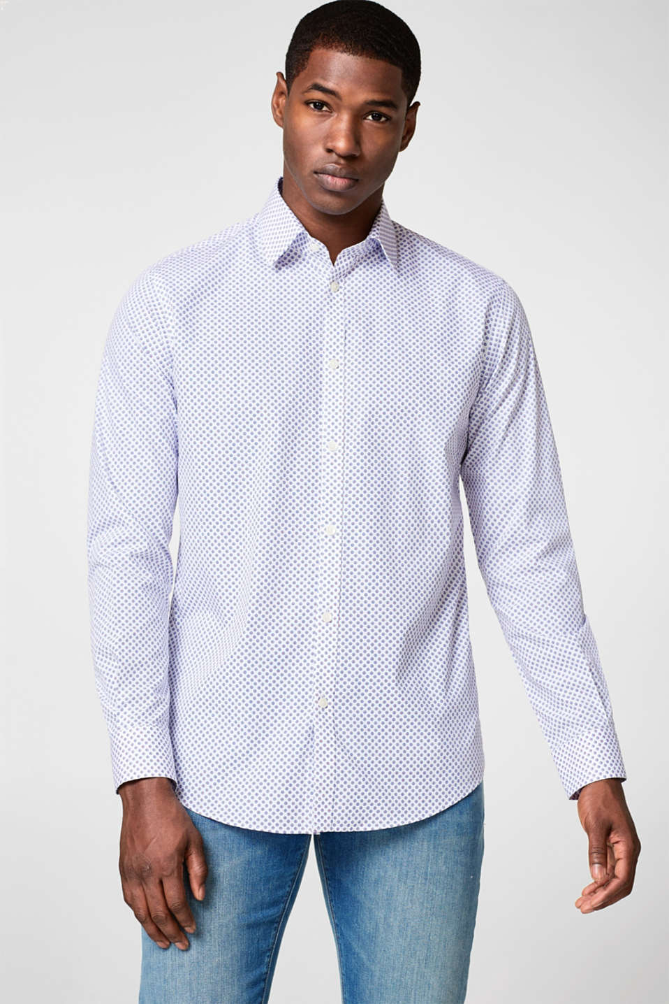 Esprit - Camisa business con estampado allover