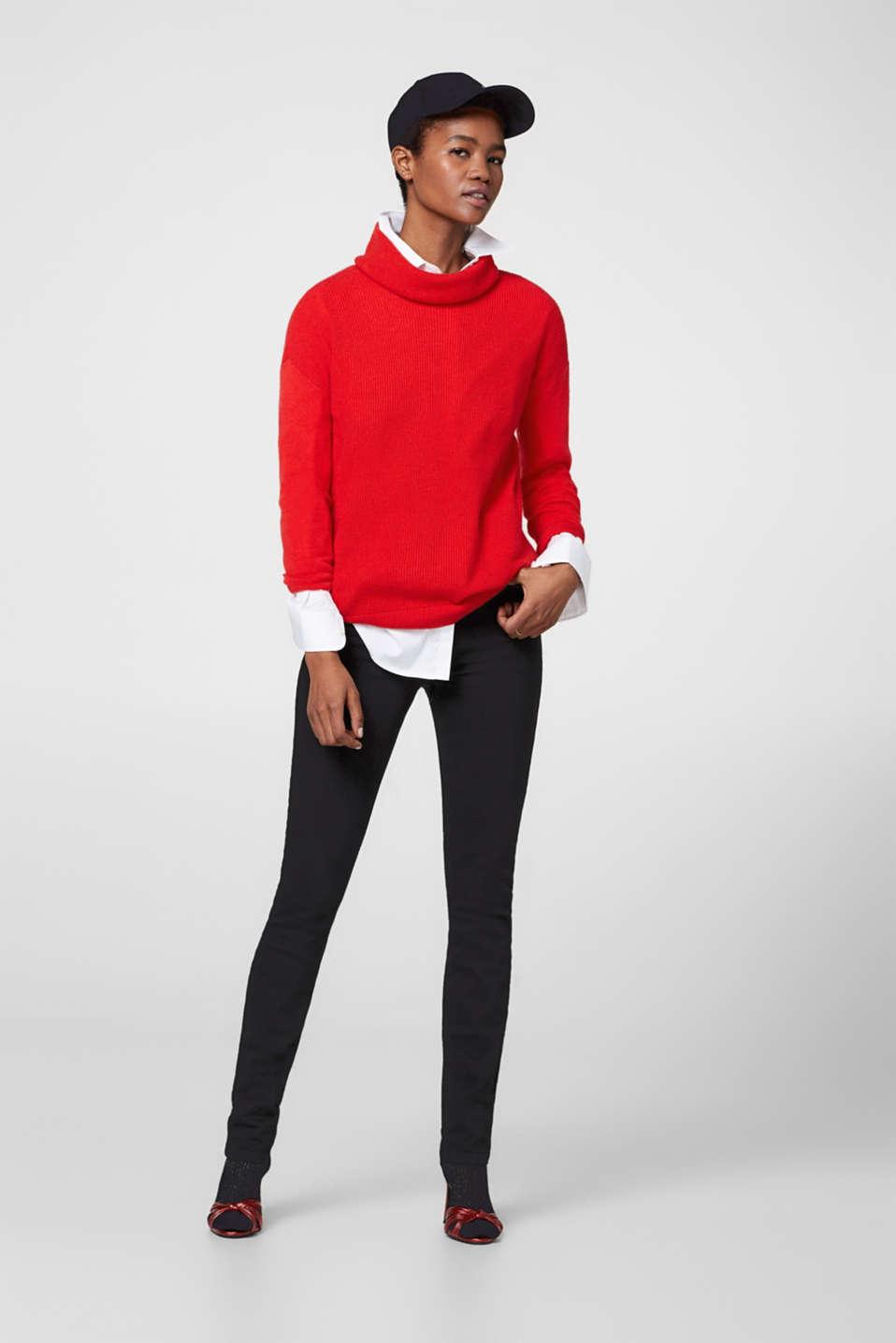 Esprit jean stretch noir taille haute acheter sur la - Jean christophe grange la ligne noire ...