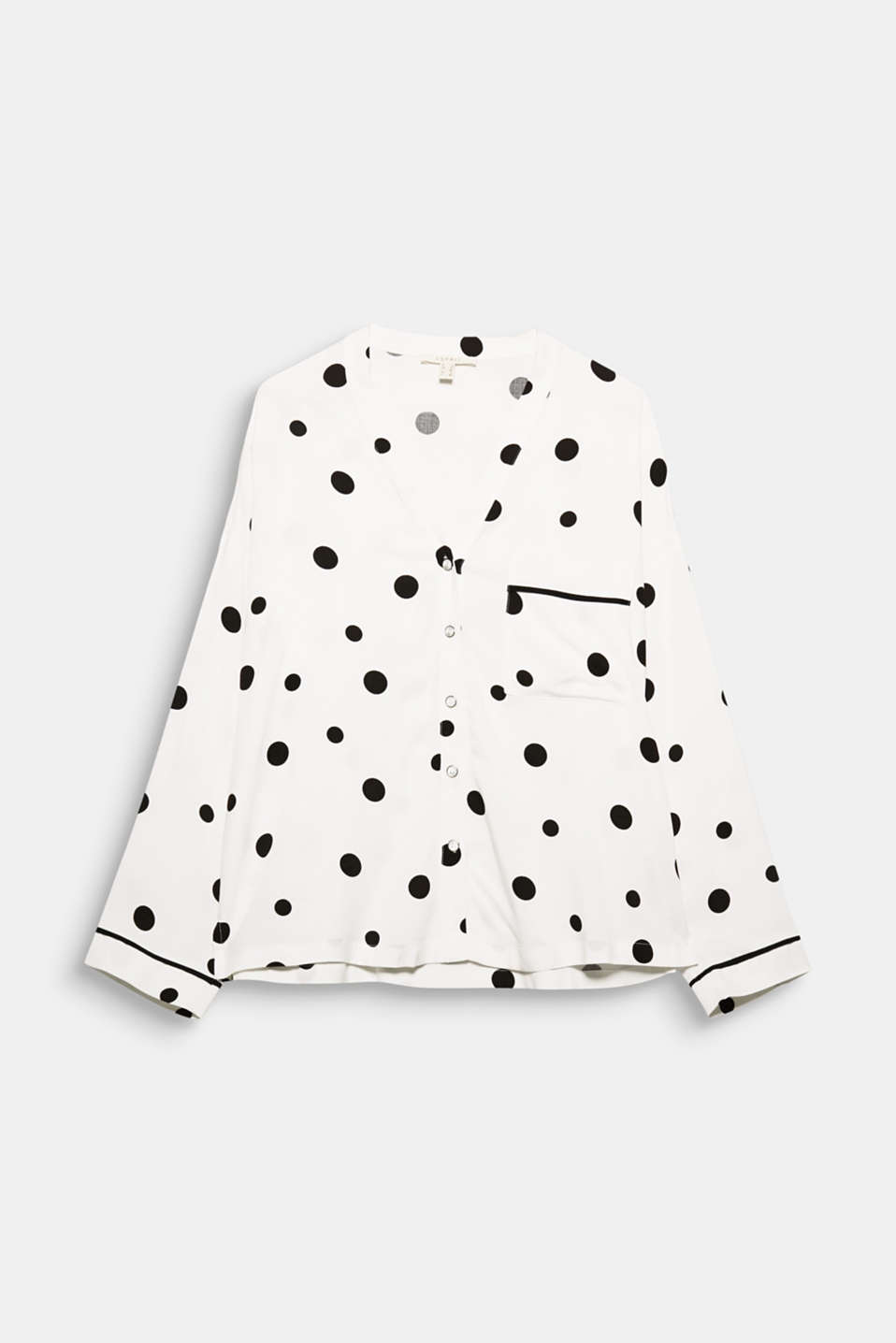 Favourite blouse: this blouse wows with a charming polka dot pattern and a casually figure-skimming shape.