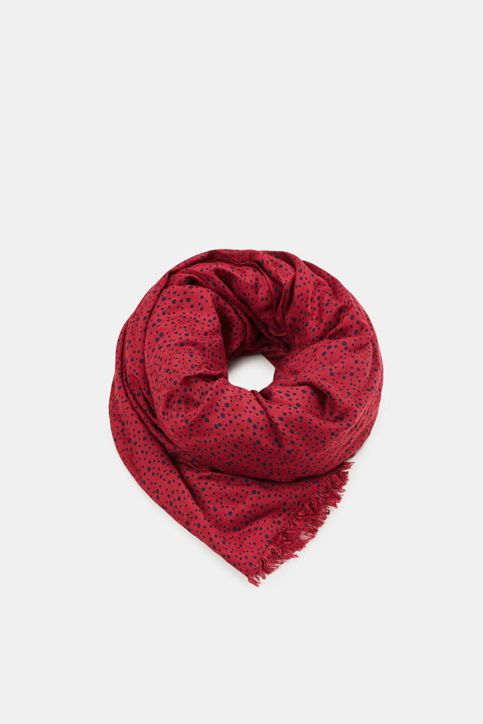 edc - Scarf with polka dot pattern