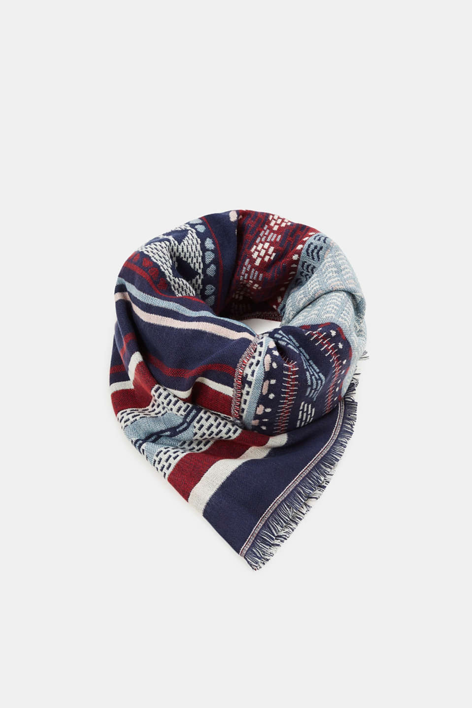 edc - Double-faced scarf with an ethnic pattern