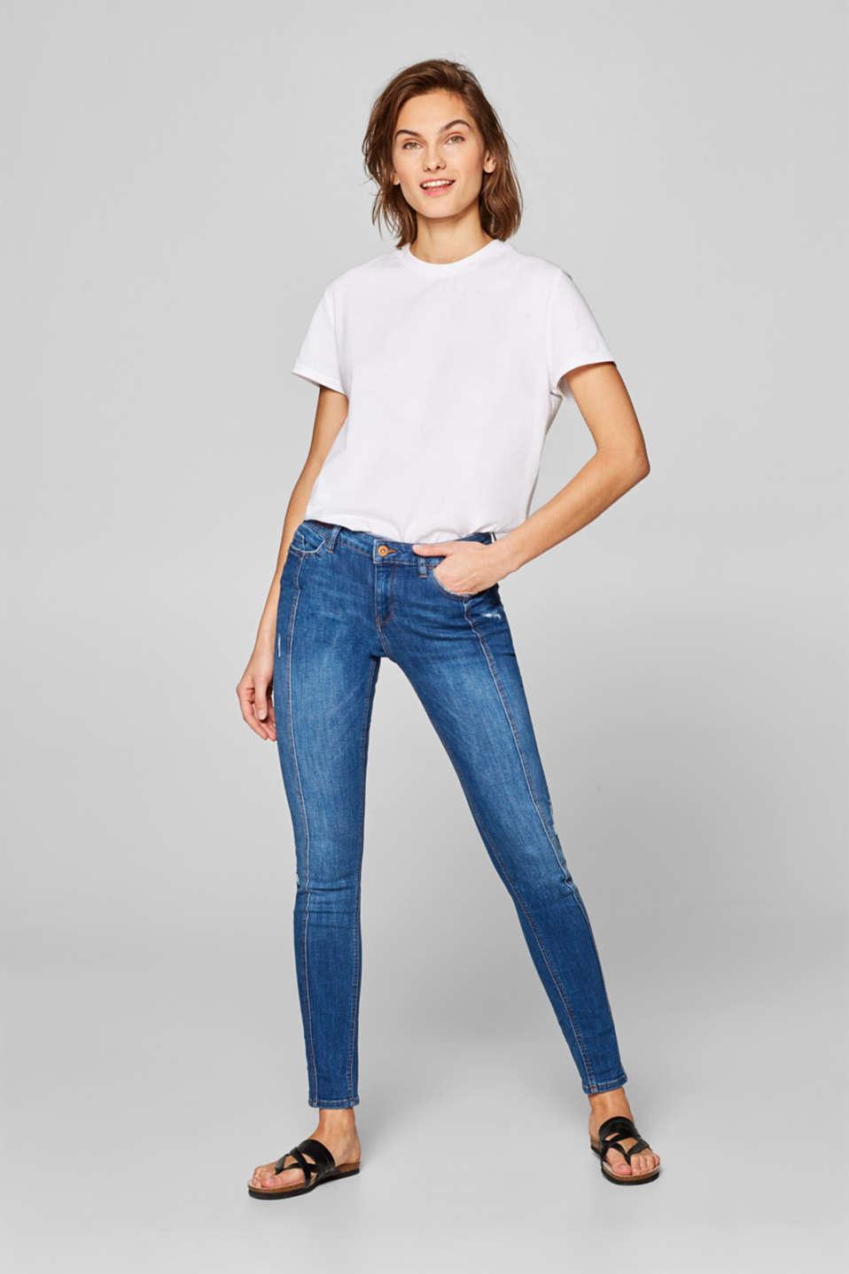 2c3ba3fc1f4c3a edc - Stretch-Jeans mit Used-Effekten und Ziernähten im Online Shop ...