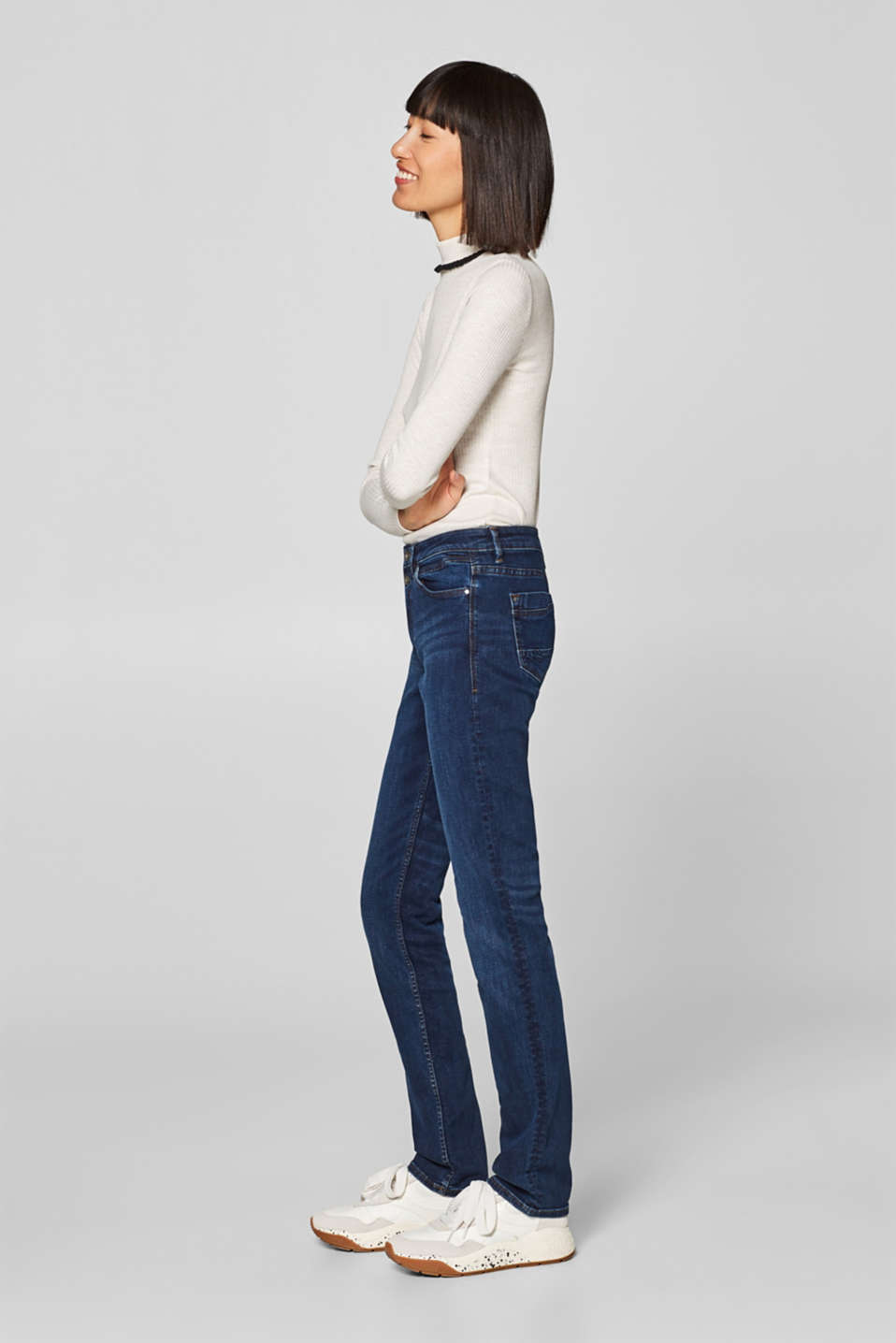 edc - Stretch jeans with two buttons on the waistband