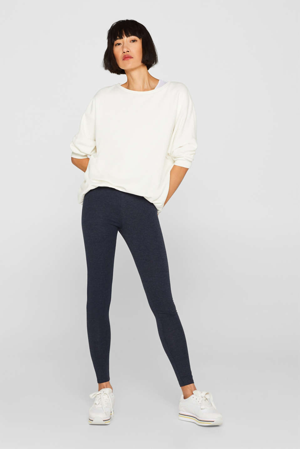 edc - Opaque melange leggings in blended cotton