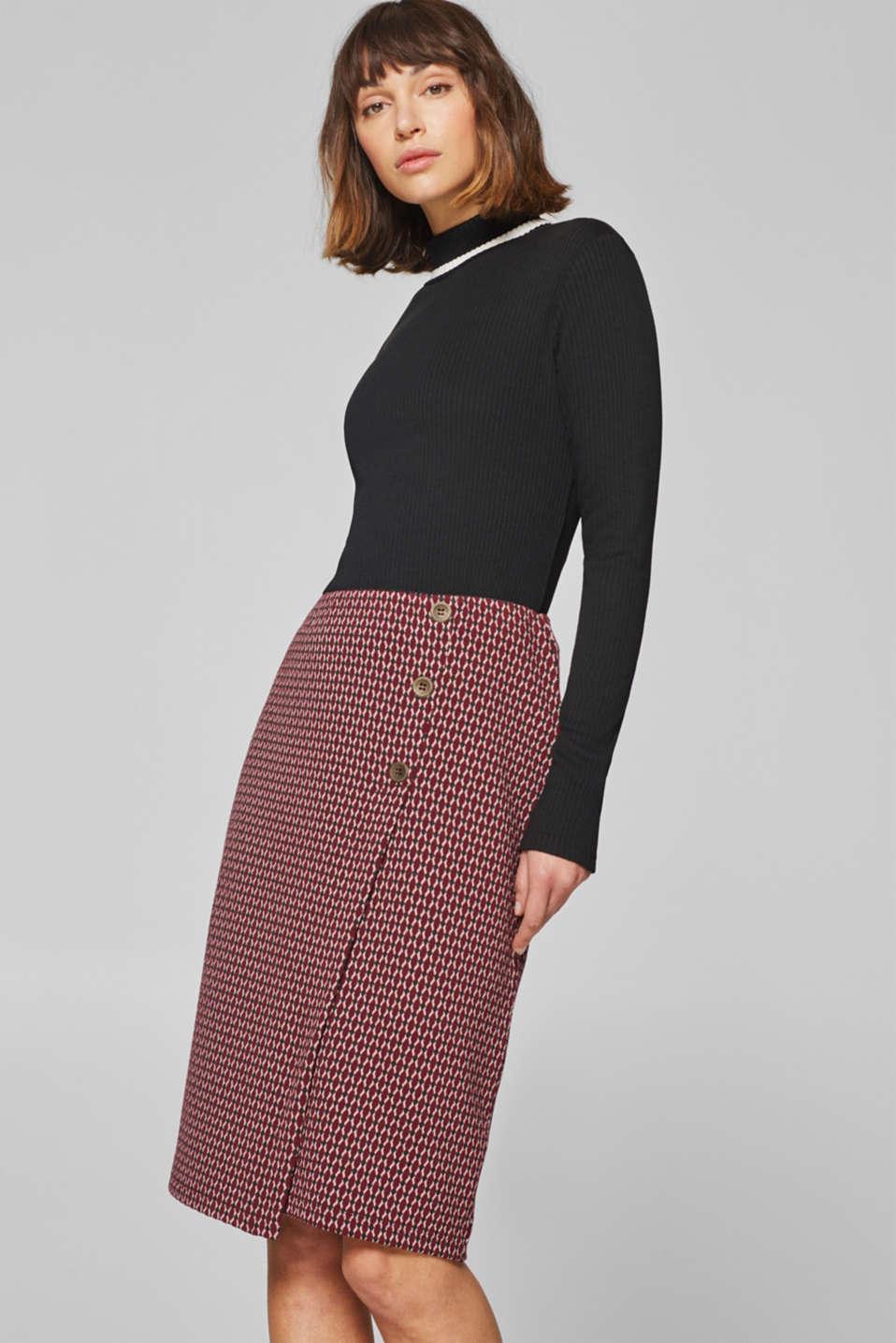195da43452eeae edc : Jupe crayon en jersey structuré à acheter sur la Boutique en ligne