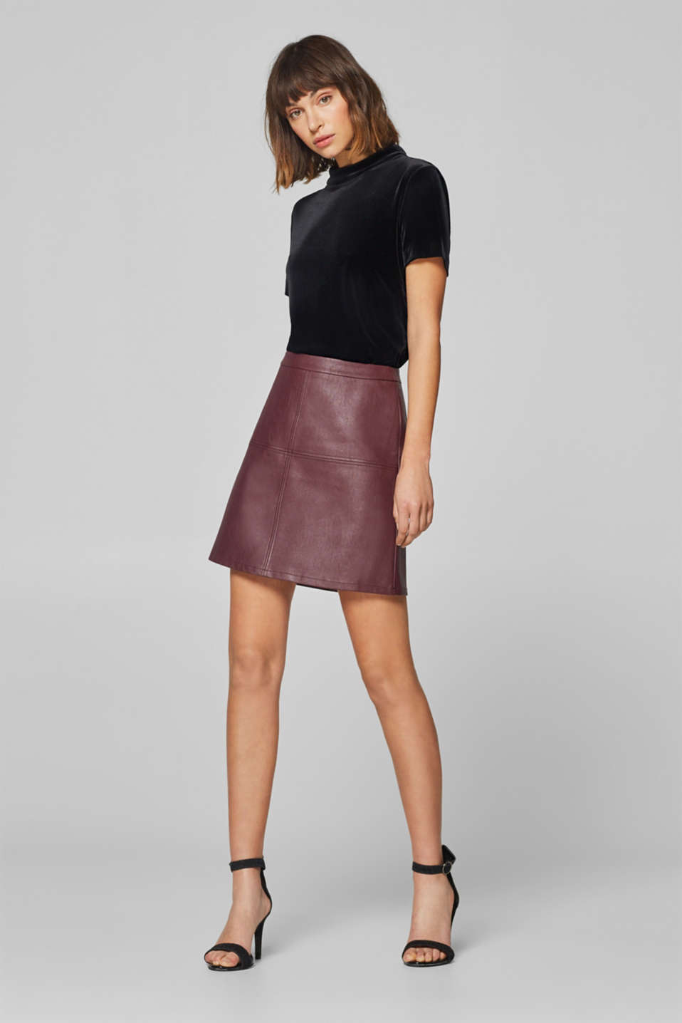 edc - Faux leather mini skirt