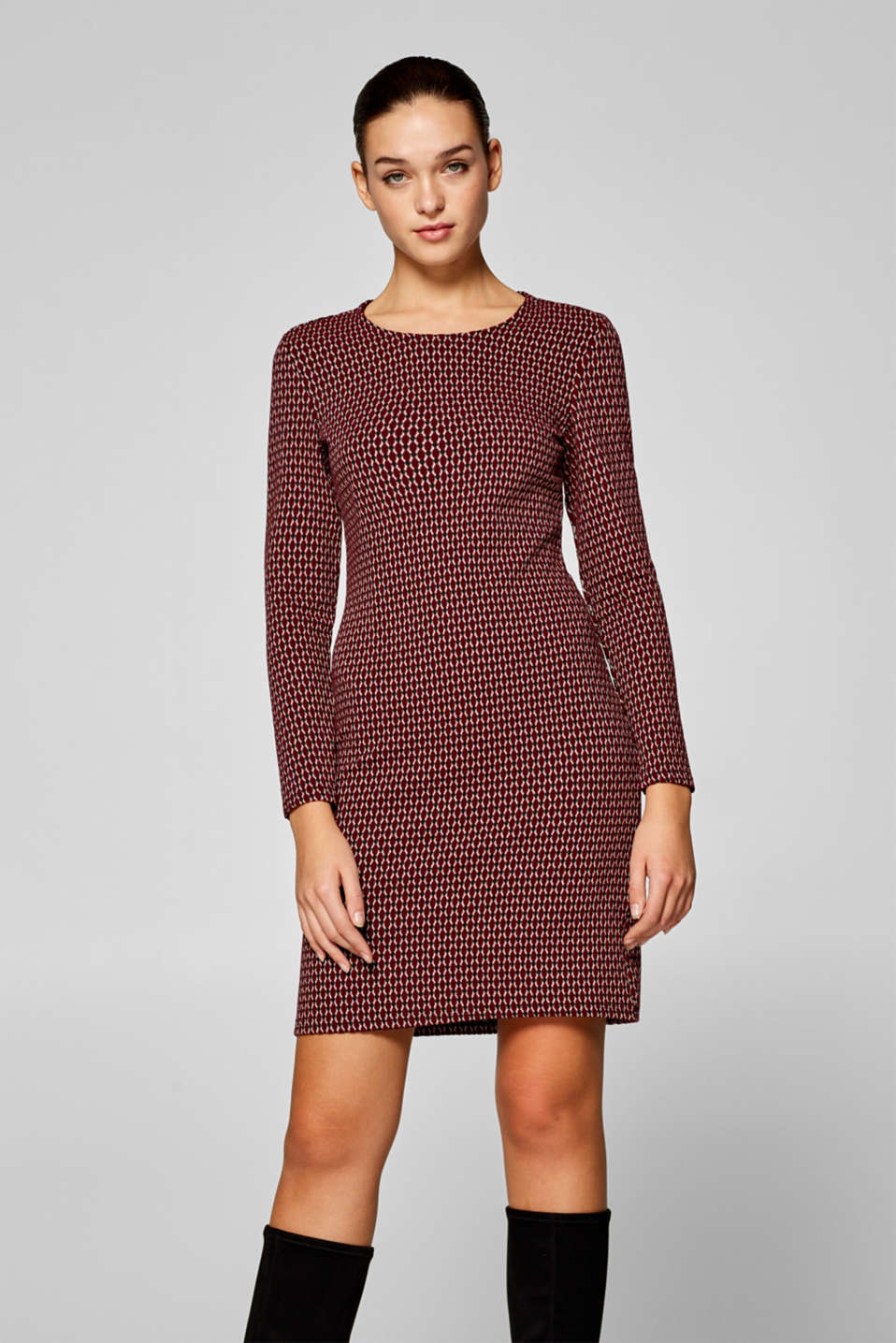 edc - Jersey sheath dress with a jacquard pattern