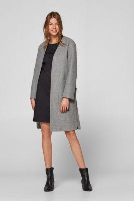33834afcc37 edc - Smal kjole i blødt twill med stretch i Esprits Online-Shop