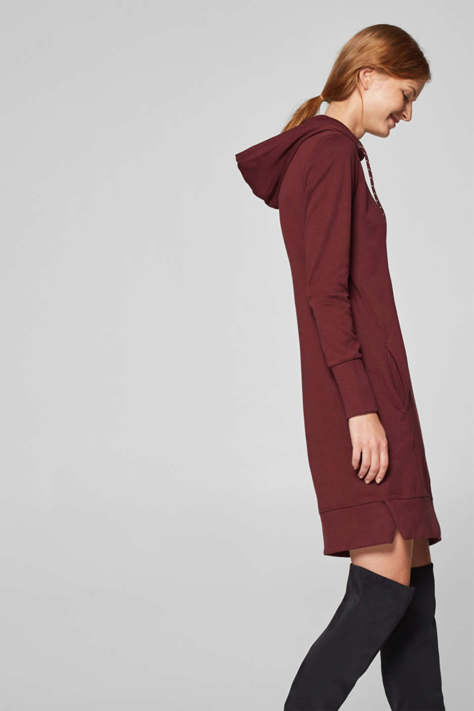 edc - Hoodie dress in 100% cotton