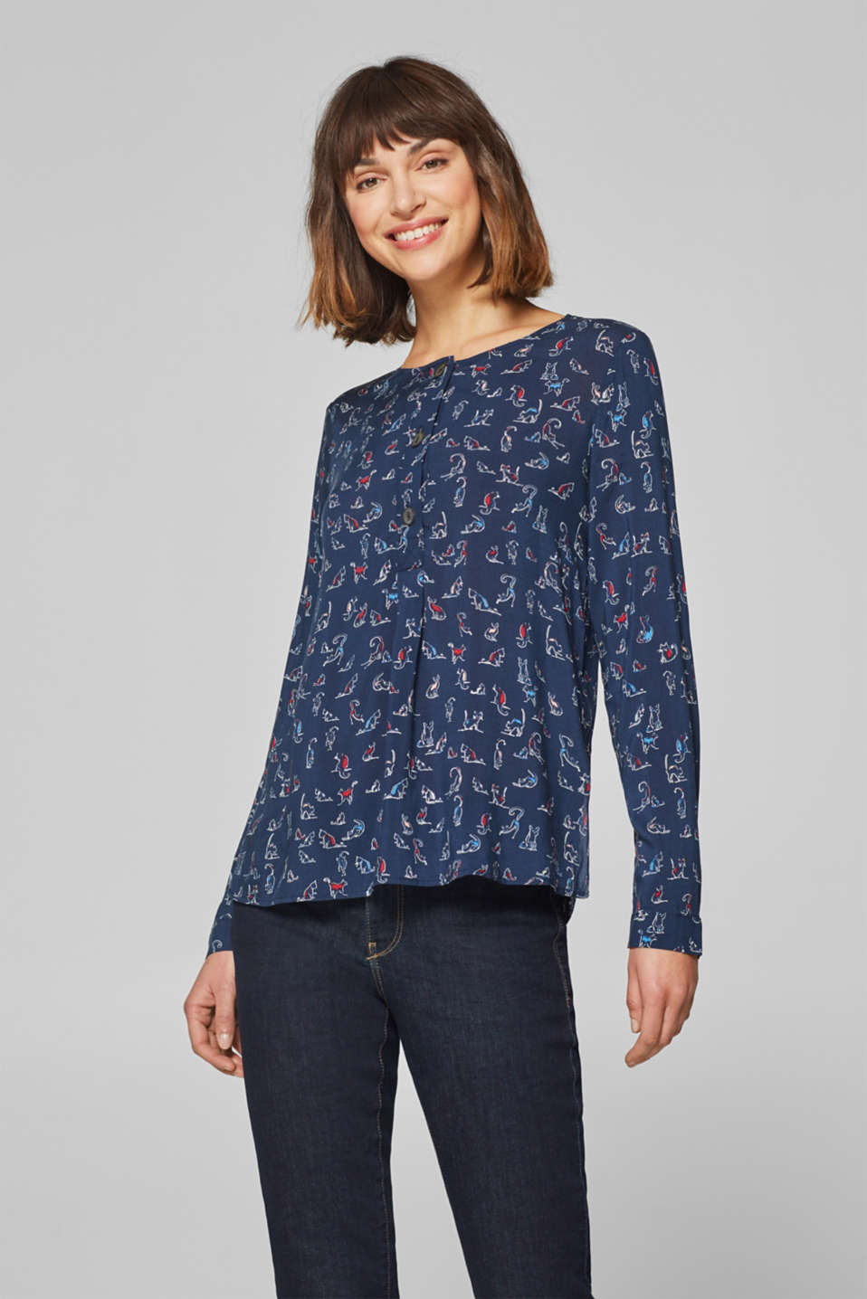 edc - Printed blouse with buttons