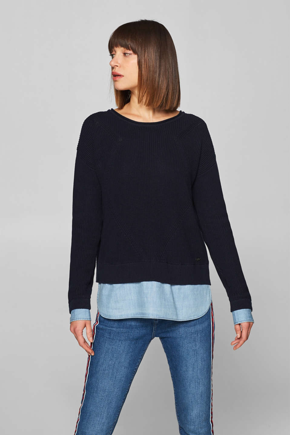 edc - Layered jumper in 100% cotton