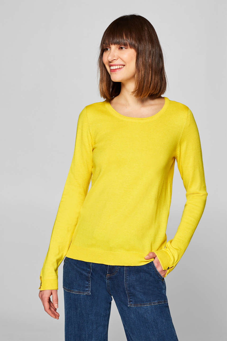 edc - Basic-Pullover mit Organic Cotton