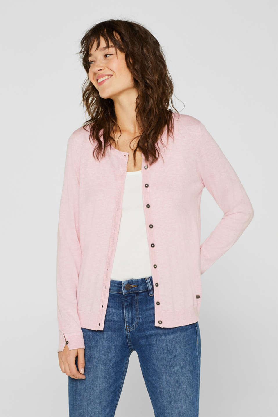 edc - Fine-knit cardigan with organic cotton