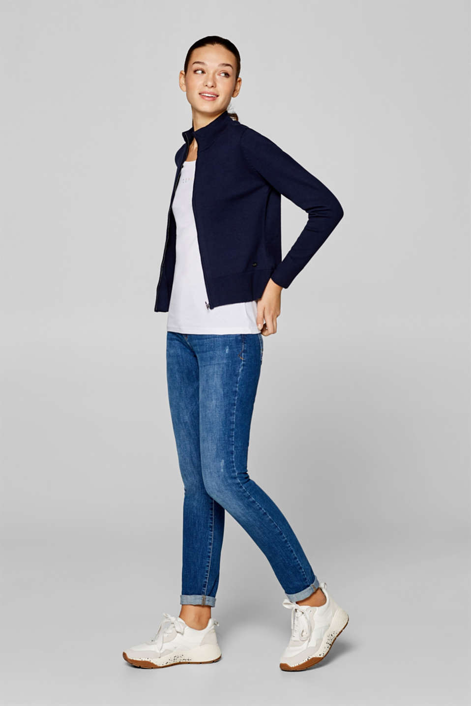 edc - Zip-up cardigan with a stand-up collar