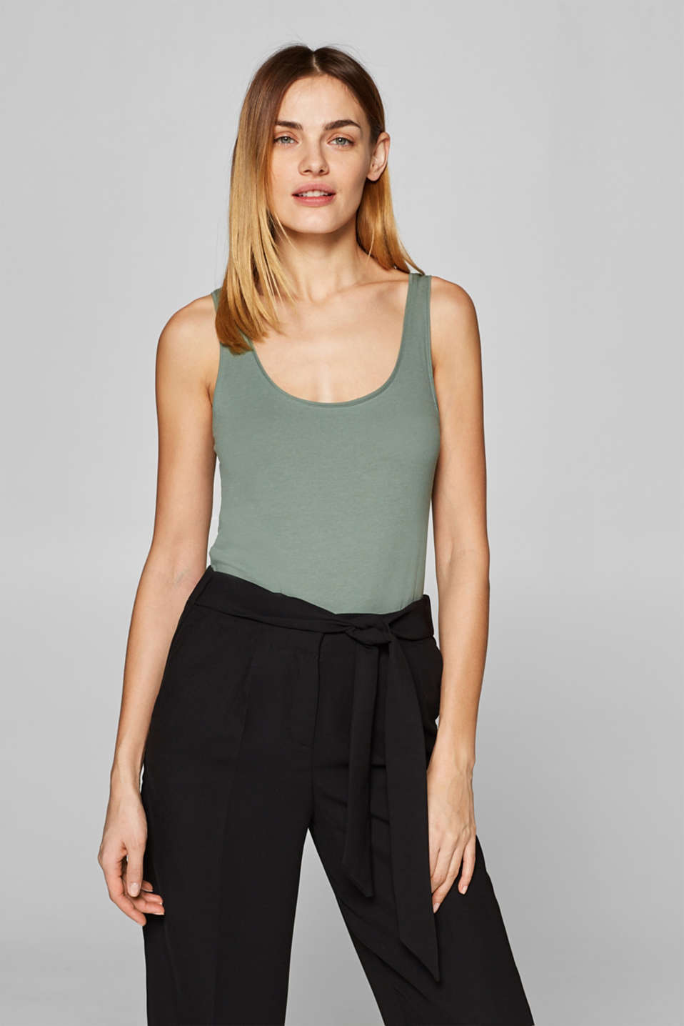 edc - Stretch-Tanktop mit Organic Cotton