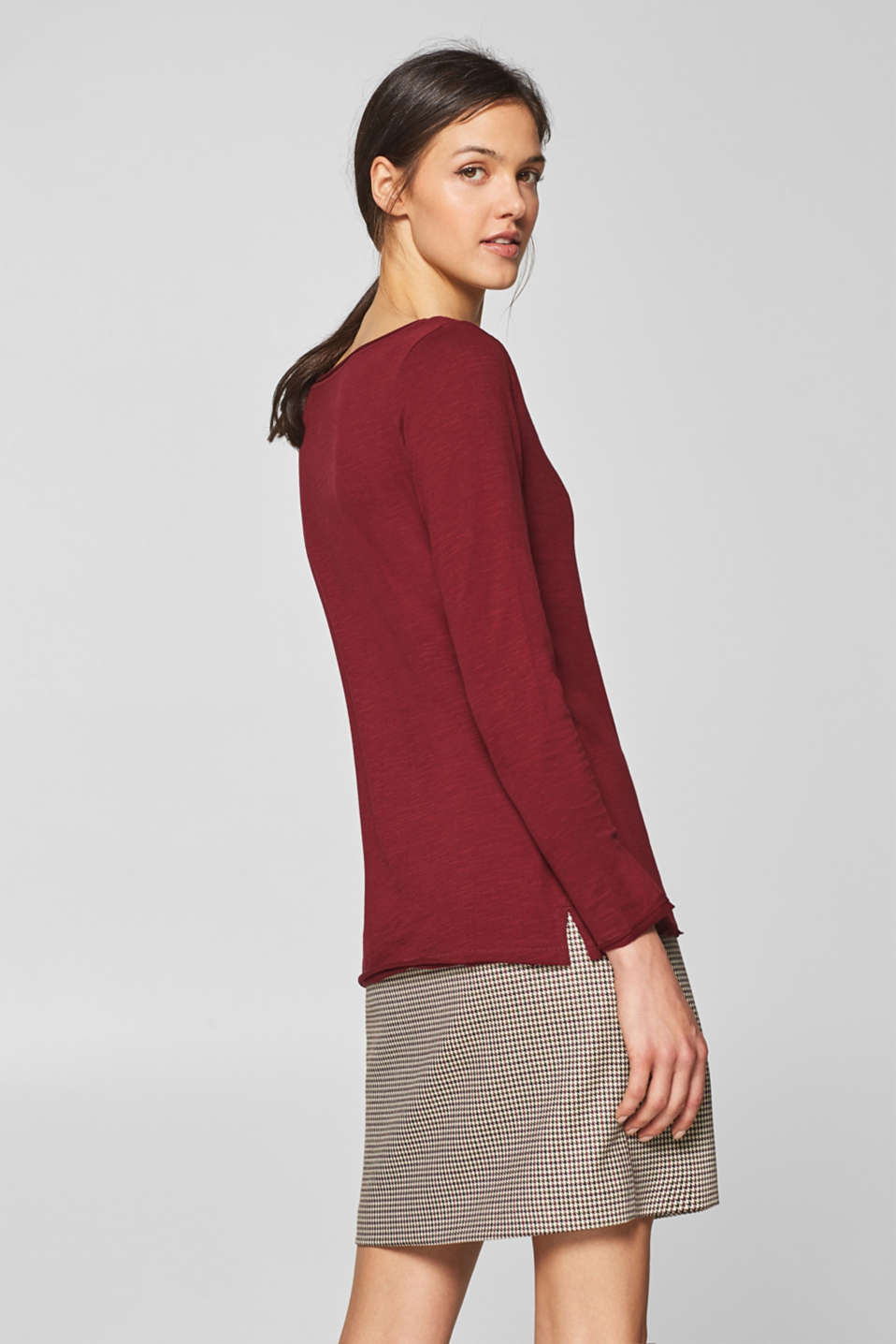 T-Shirts, GARNET RED 4, detail image number 3