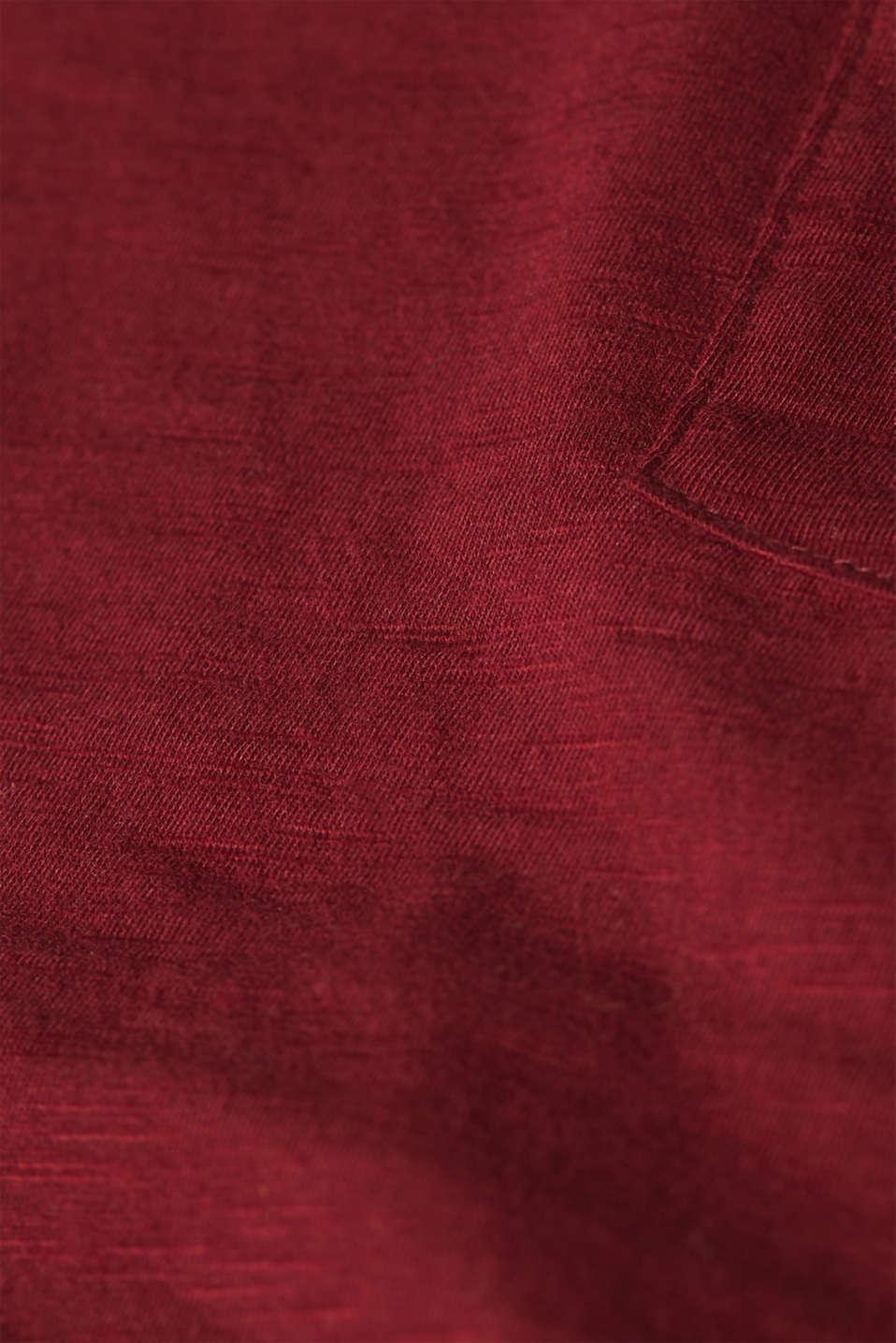 T-Shirts, GARNET RED 4, detail image number 4