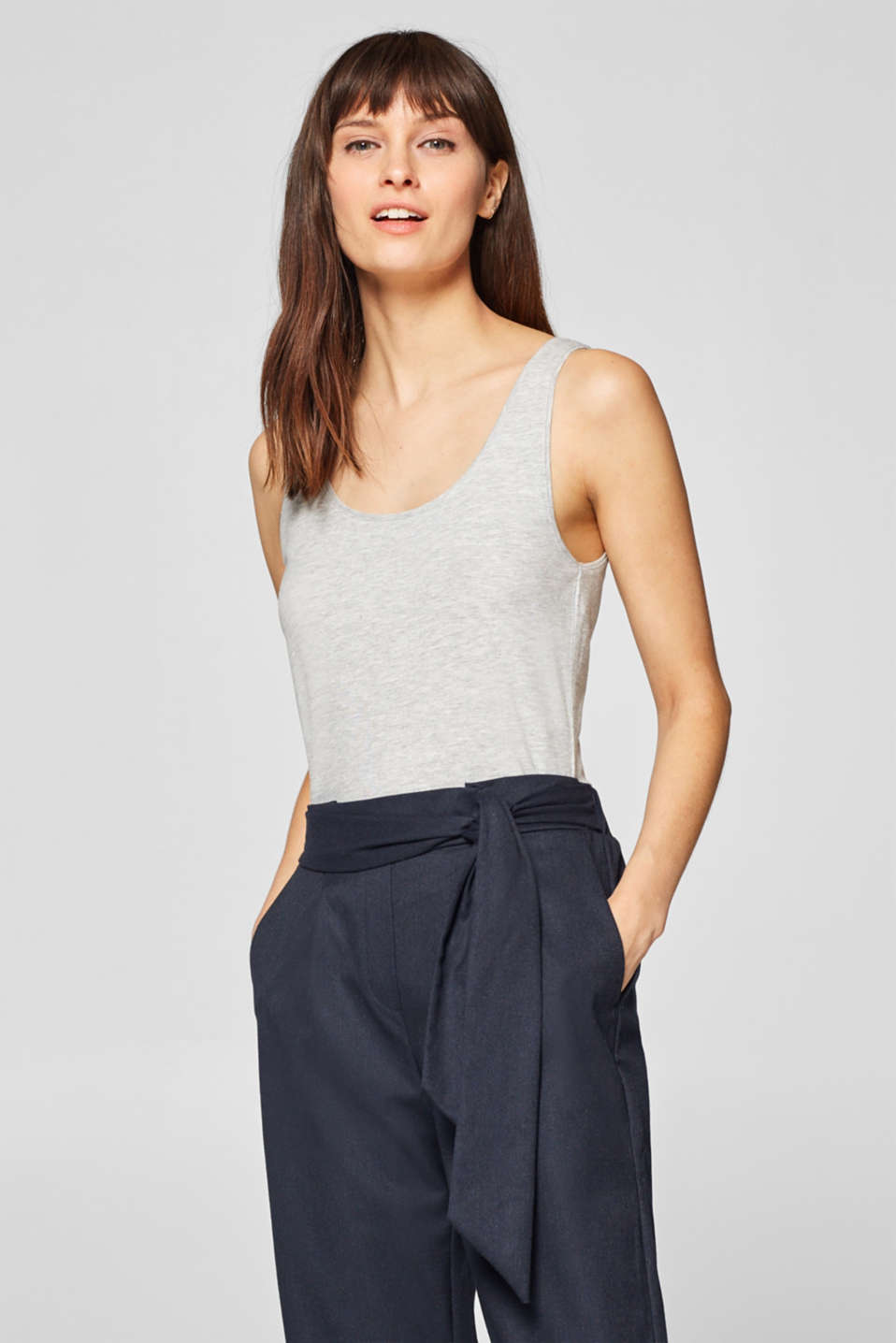 edc - Basic-Top mit Stretch und Organic Cotton