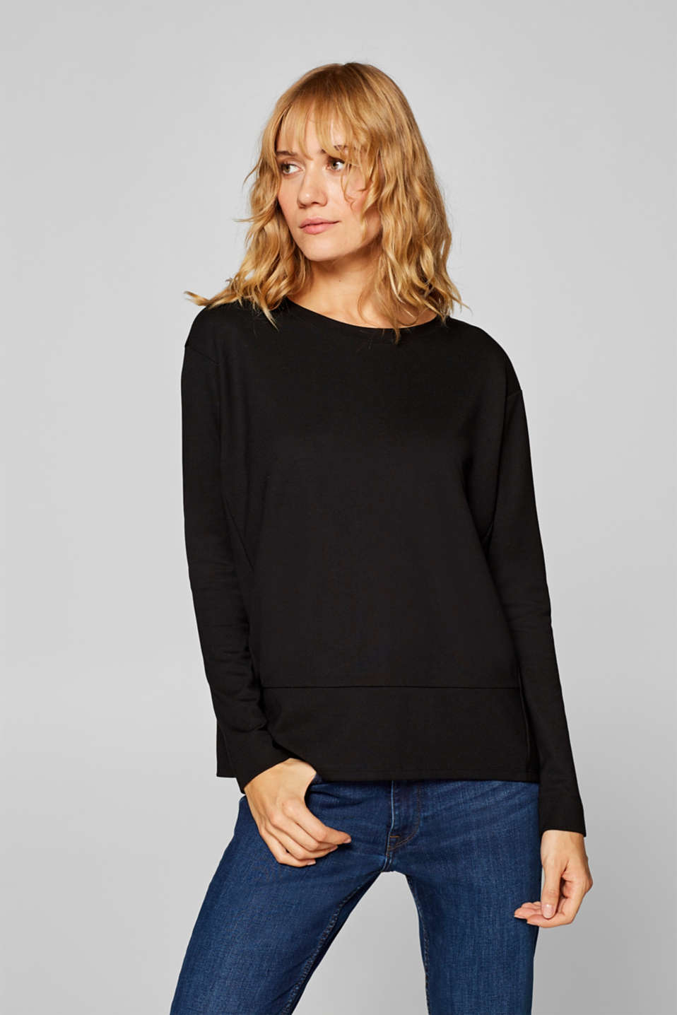 edc - Constructed jersey long sleeve top