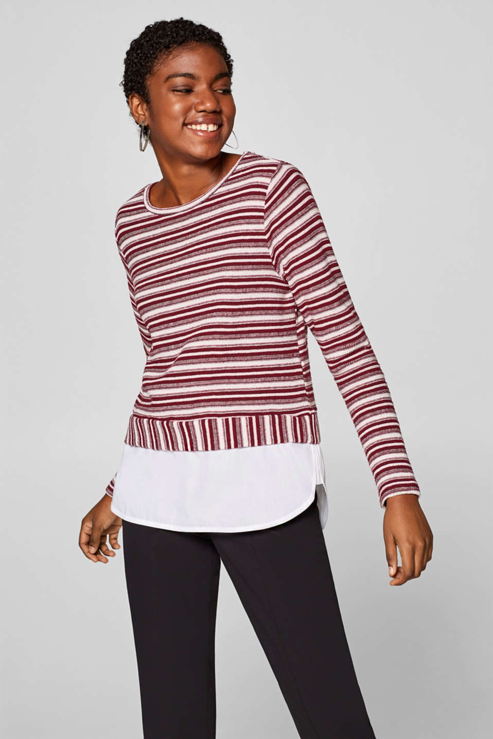 edc - Sweat-shirt texturé, base en tissu