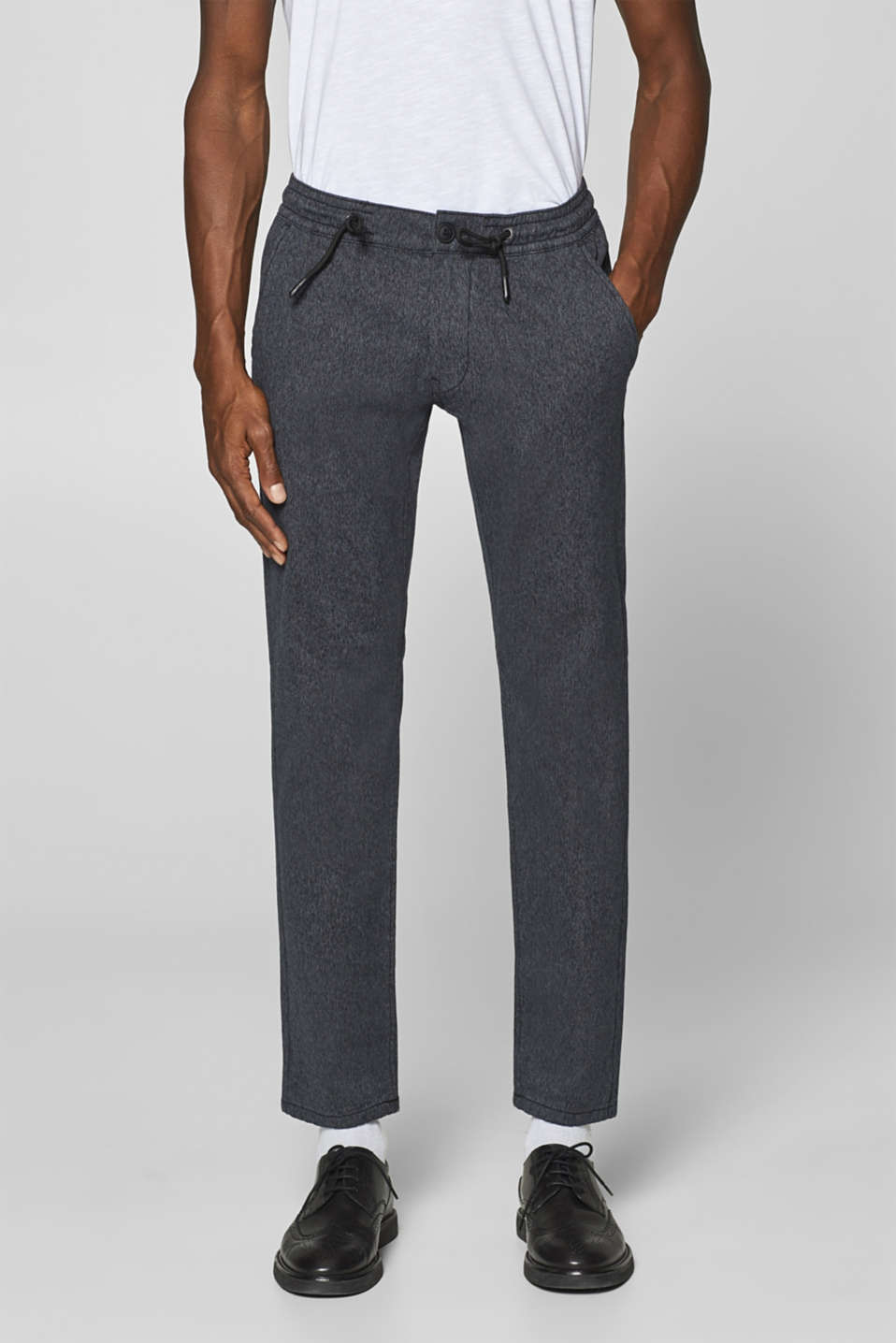 edc - Stretch chinos with an elasticated waistband