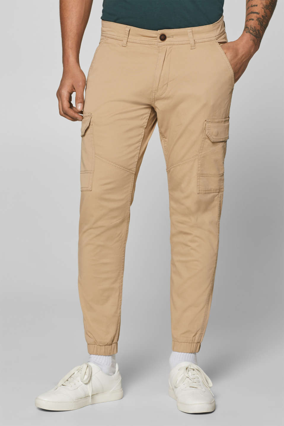 edc - Stretch cotton cargo trousers