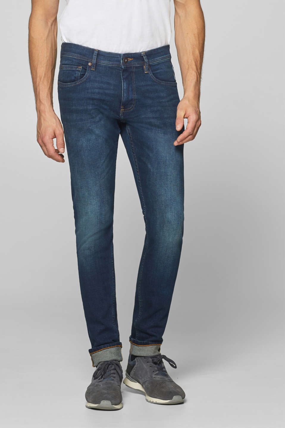 edc - Stretch jeans with tobacco stitching