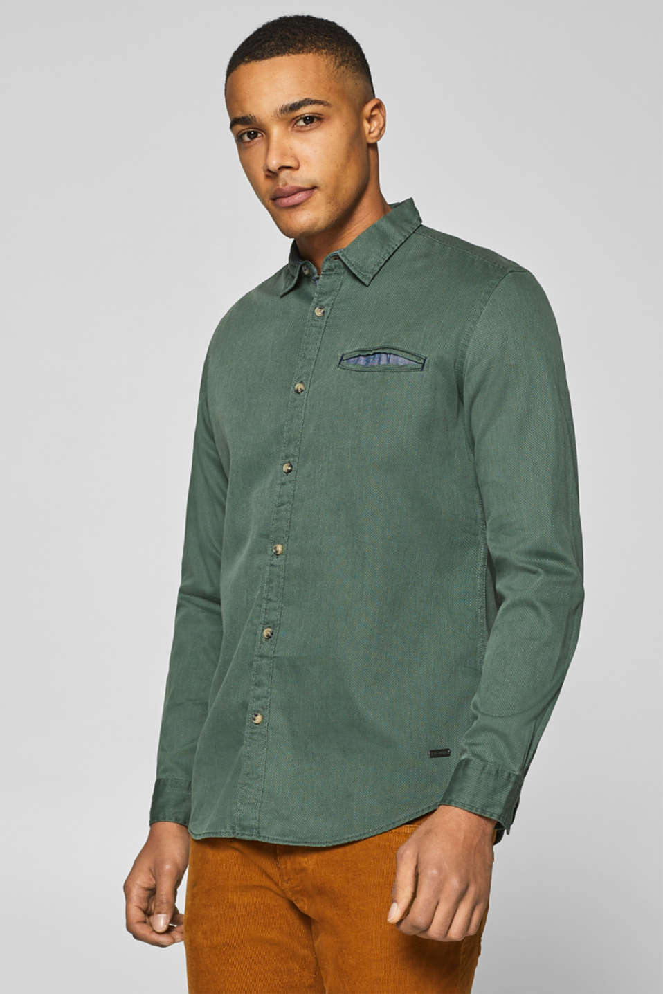 edc - Textured shirt in 100% cotton