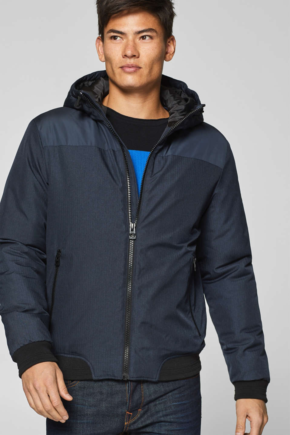 edc - Padded jacket with a hood
