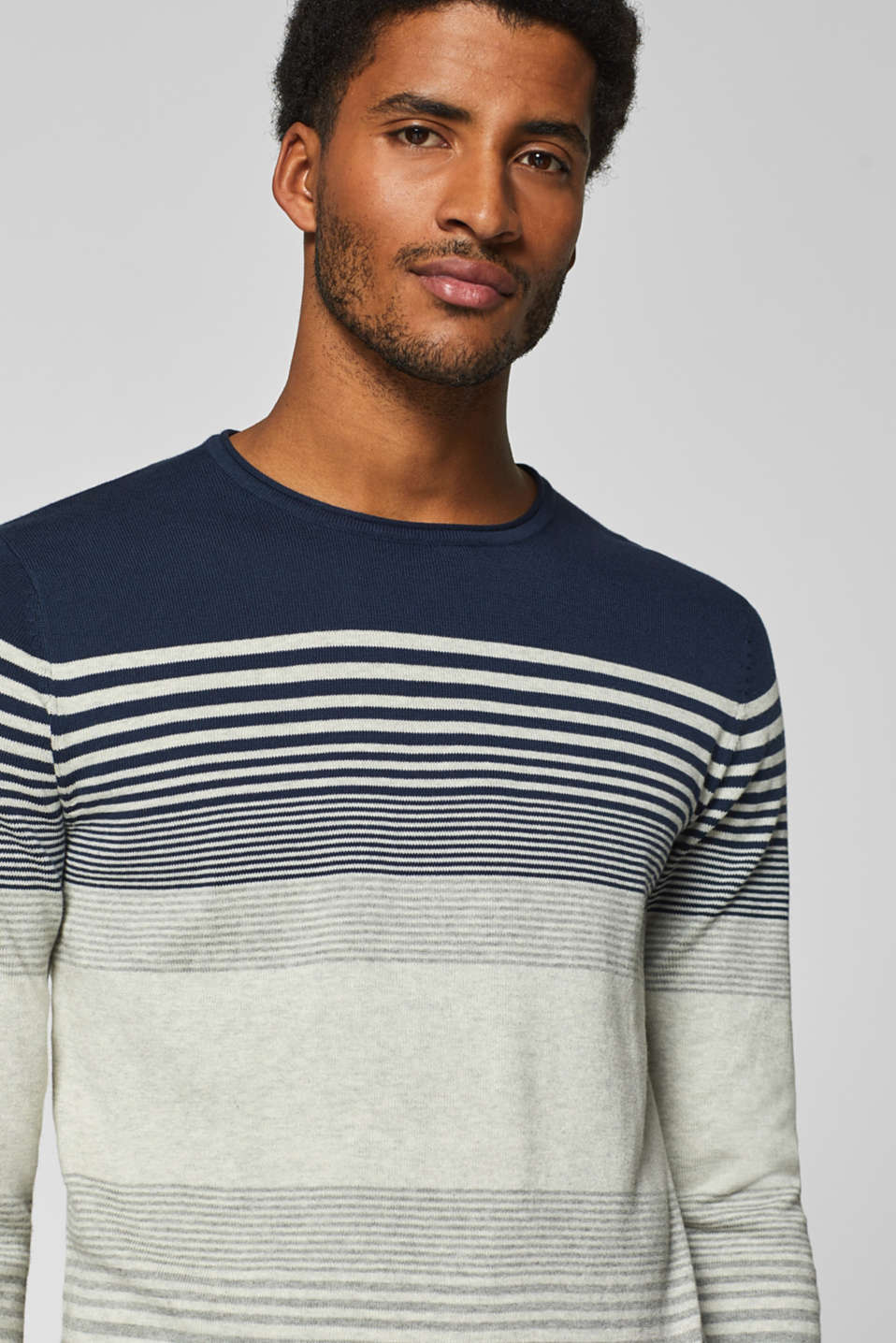 edc - Cotton jumper with stripes