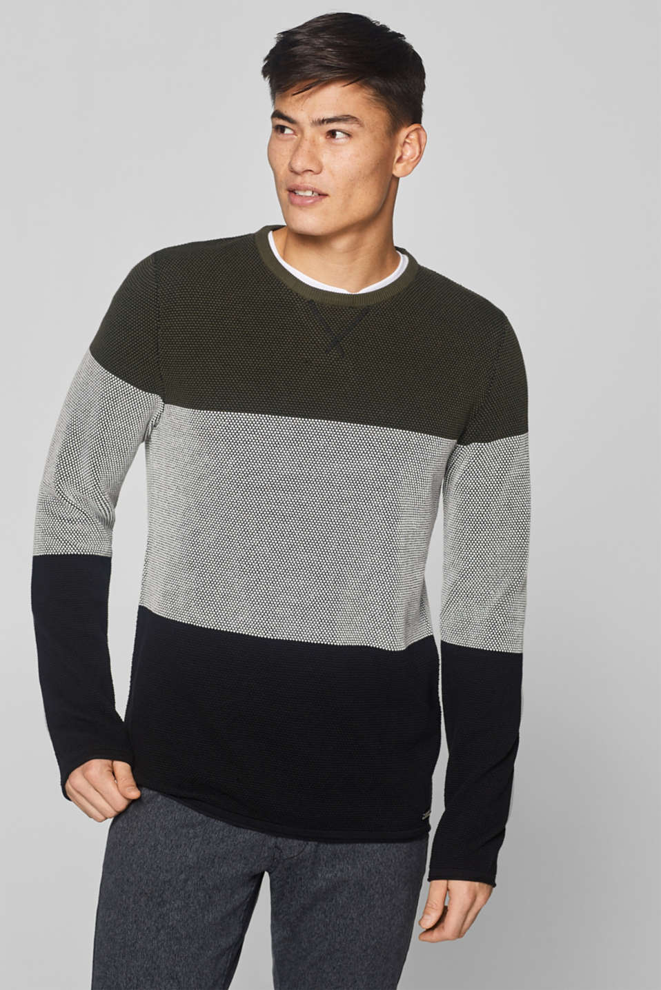 edc - Textured jumper made of 100% cotton