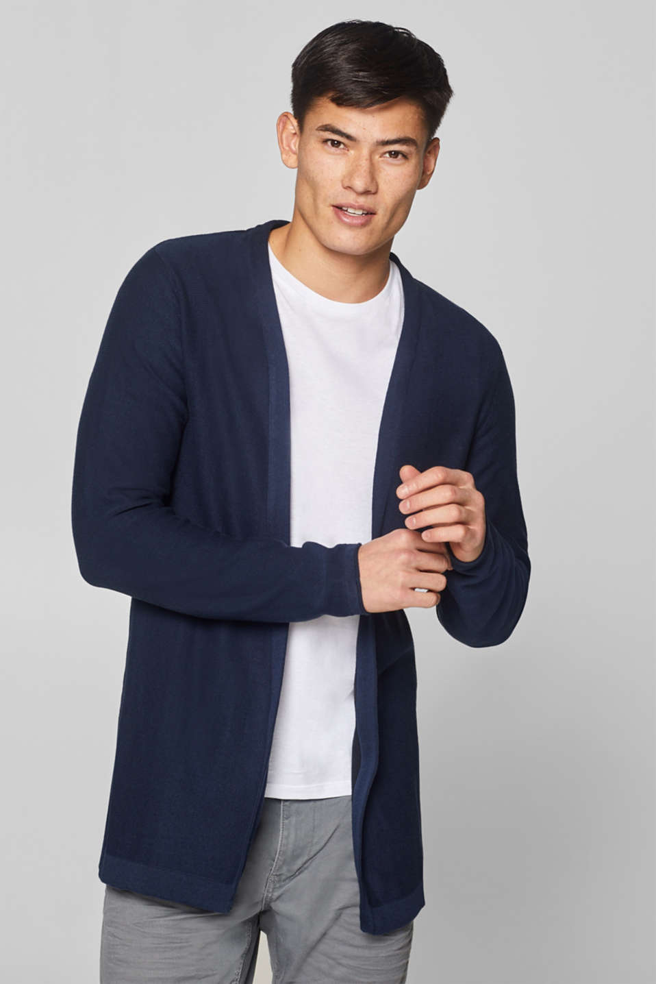 edc - Open cardigan in 100% cotton