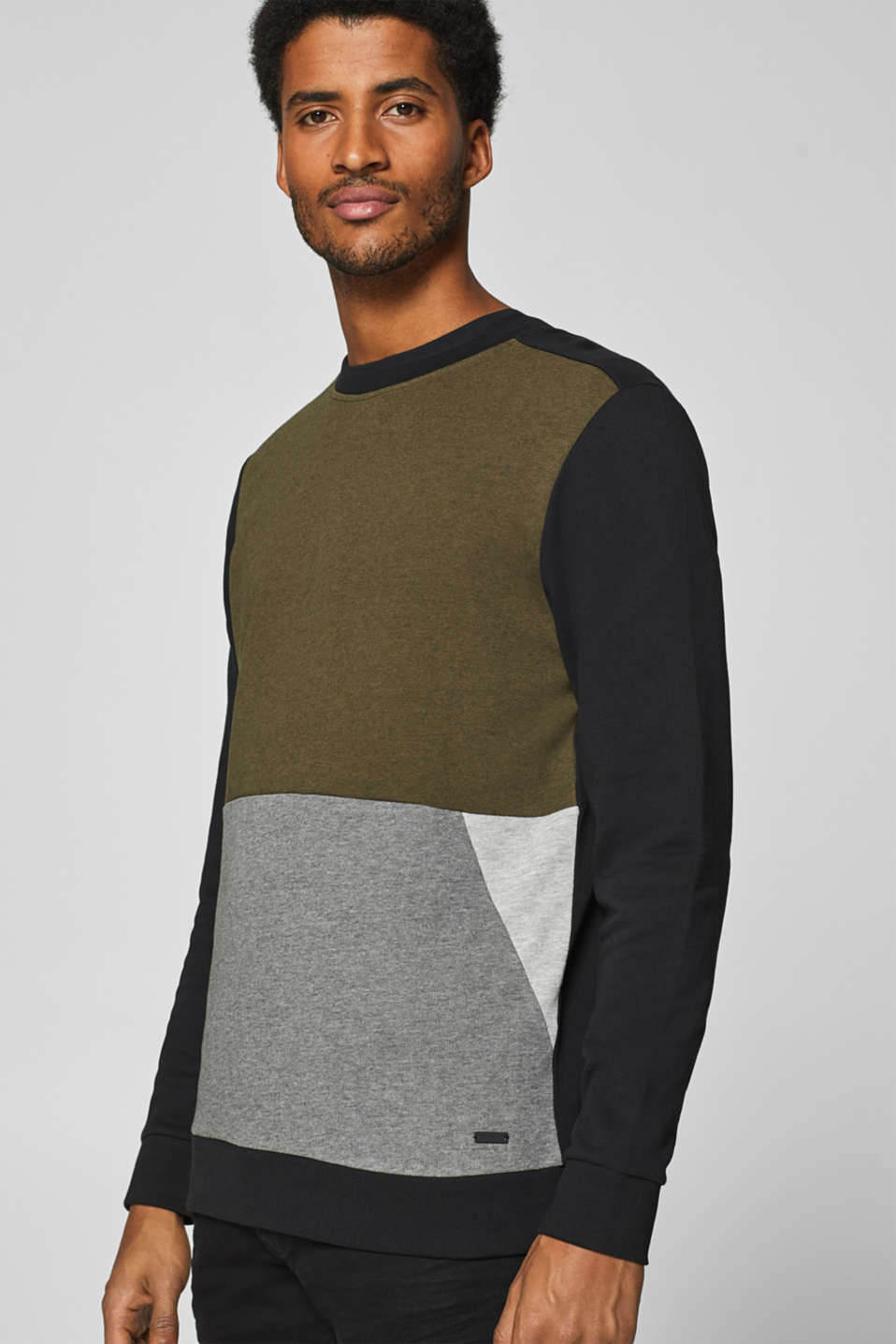 edc - Sweat-shirt à éléments color block
