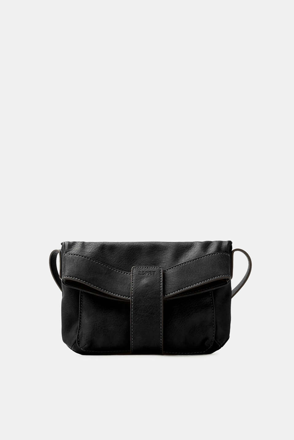 Esprit - Vegan faux leather shoulder bag